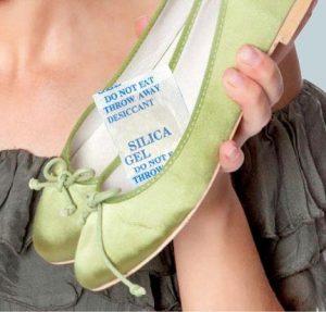 silica gel sepatu